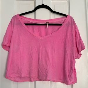 Hot pink, free people cropped top!